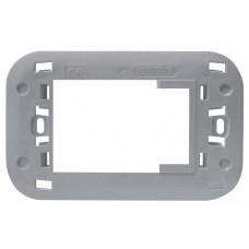 Adapter za BTicino AXOLUTE maske, sjajni svetlo sivi metalik